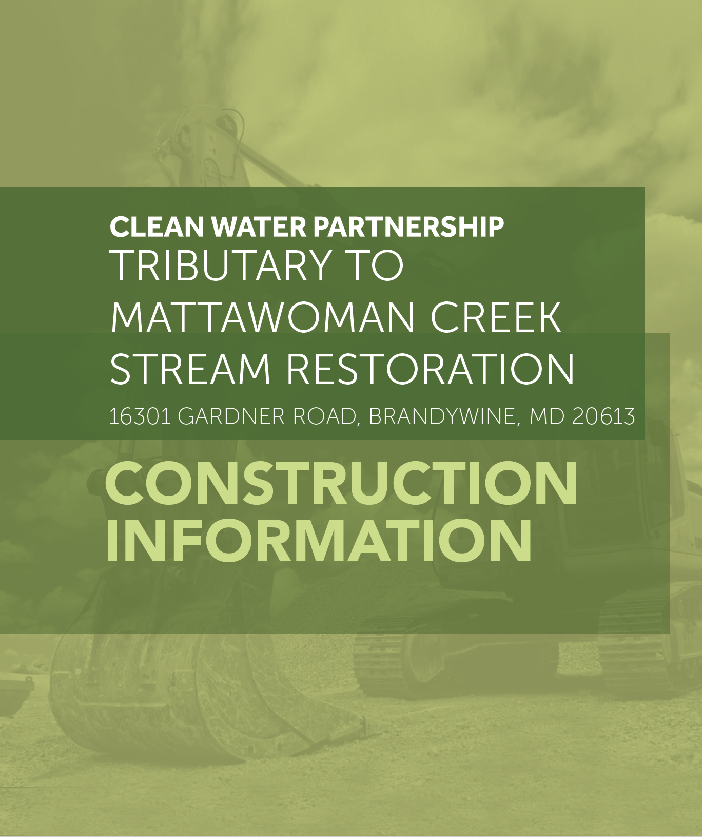 Tributary To Mattawoman Creek Stream Restoration